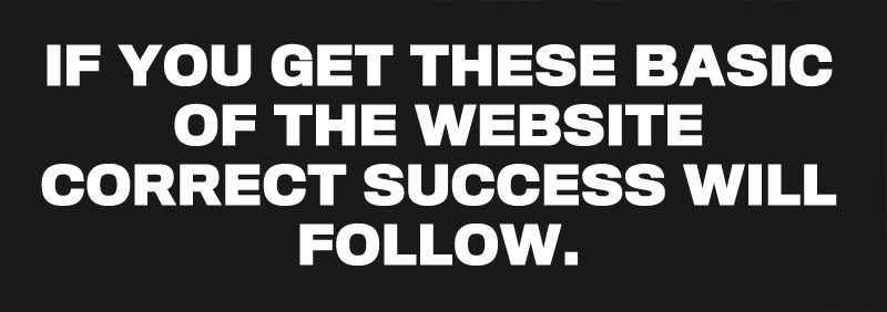 If you get these basic of the website correct success will follow.