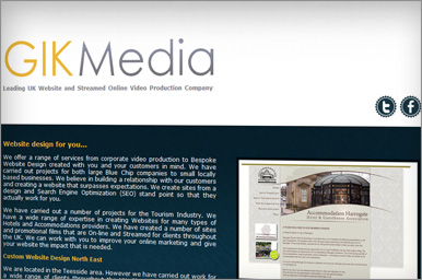 Visual of new Gik Media site