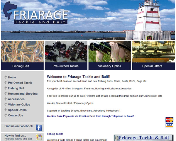The Friarage Tackle and Bait Home Page