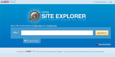 Website Explorer tool to check inbound links