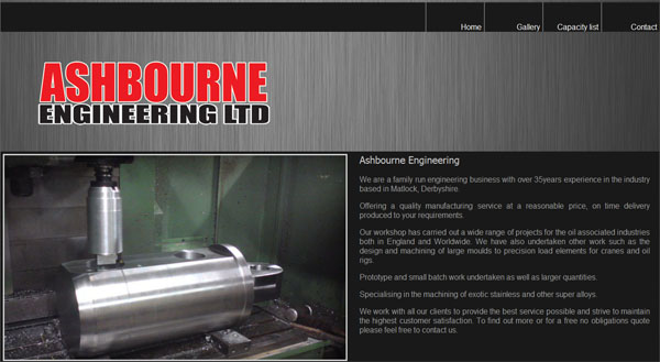 Ashbourne Website Design Home Page