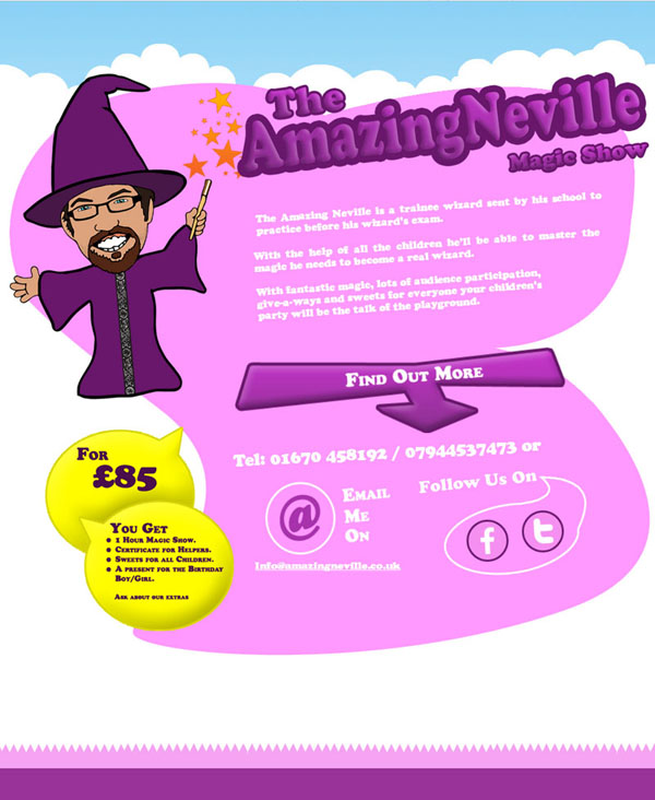 Amazing Neville Website