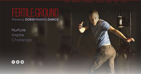 Fertile Ground Home Page Web Design
