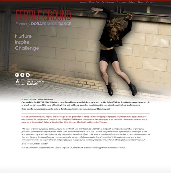 Fertile Ground Dance Website