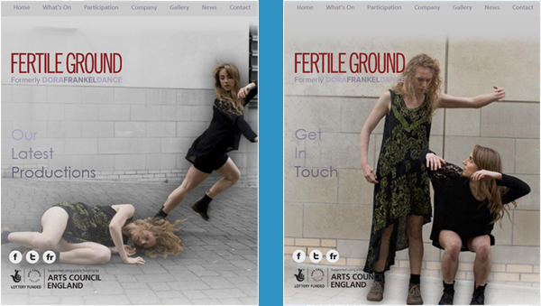 Fertile Ground Website Mobile and Tablet View