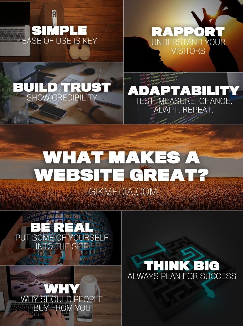What Makes A Website Great Infographic Gikmedia