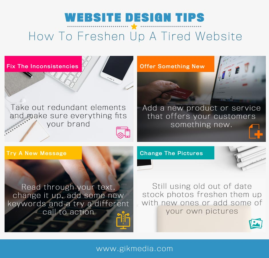 How To Freshen Up A Tired Website