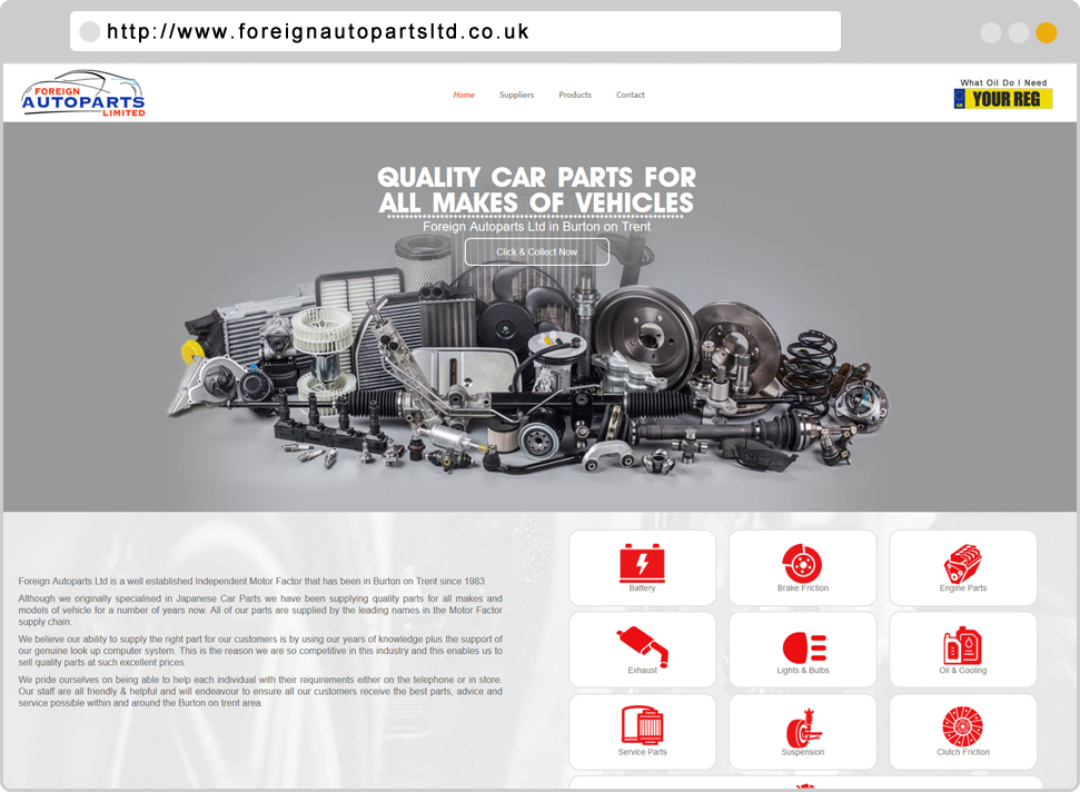 Foreign Autoparts ltd Designed By GikMedia