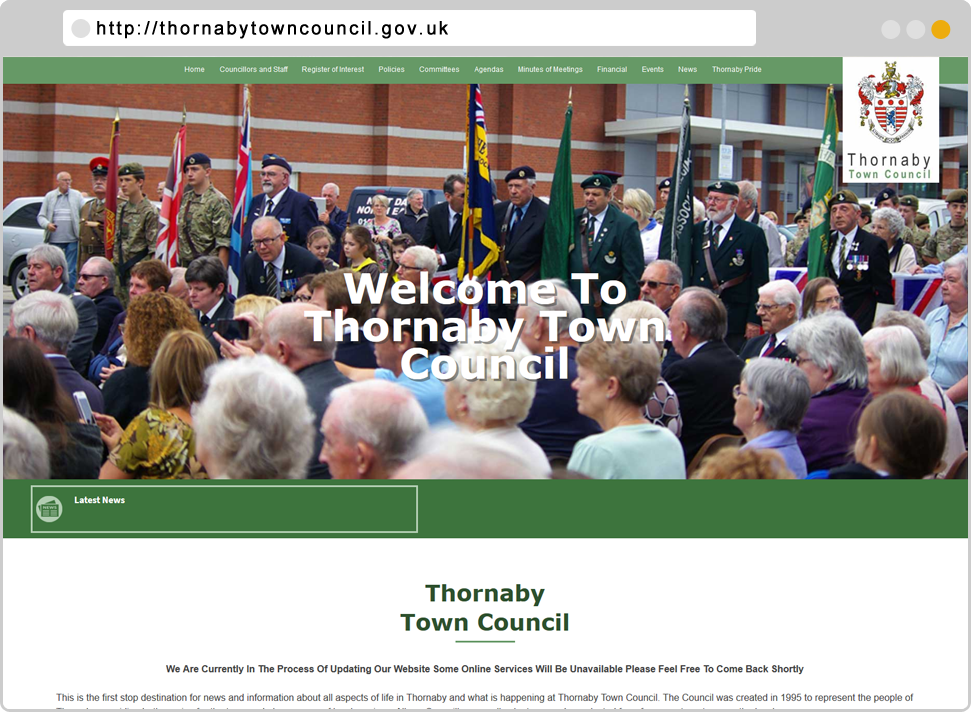 Thornaby Town Council Designed By GikMedia